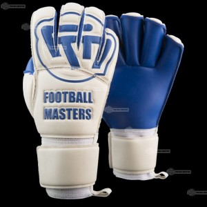 Rękawice Football Masters White Blue Contact Grip RF